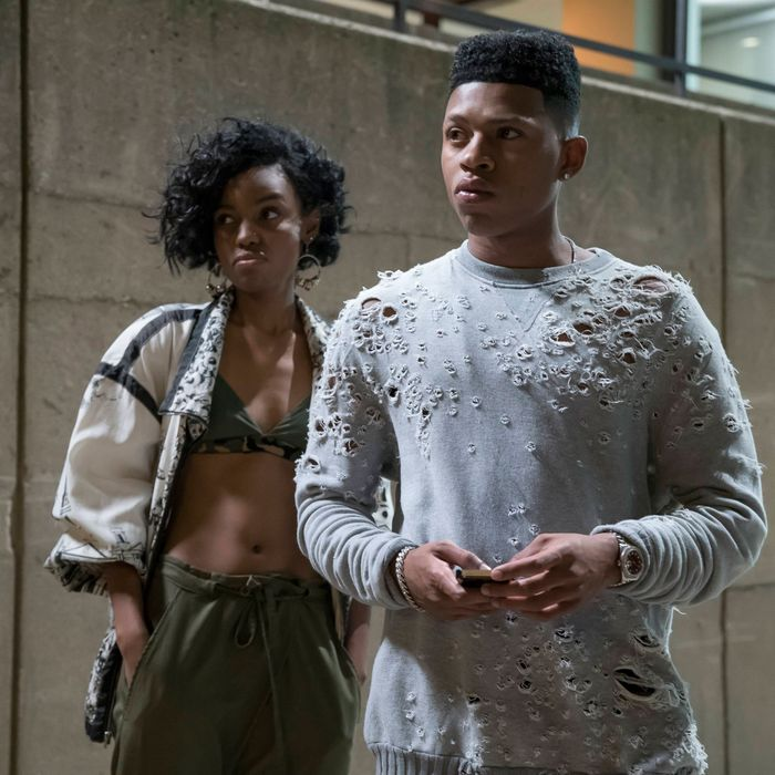 EMPIRE: Pictured L-R: Guest star Sierra McClain and Bryshere Gray in the