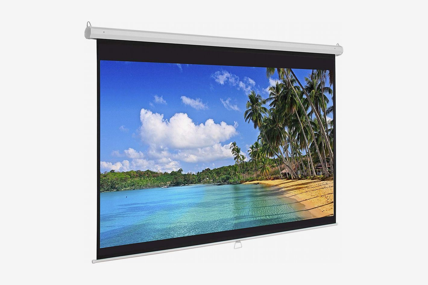 Best Choice Products 119in Ultra HD 1:1 Gain Indoor Pull Down Manual Widescreen Wall Mounted Projector Screen