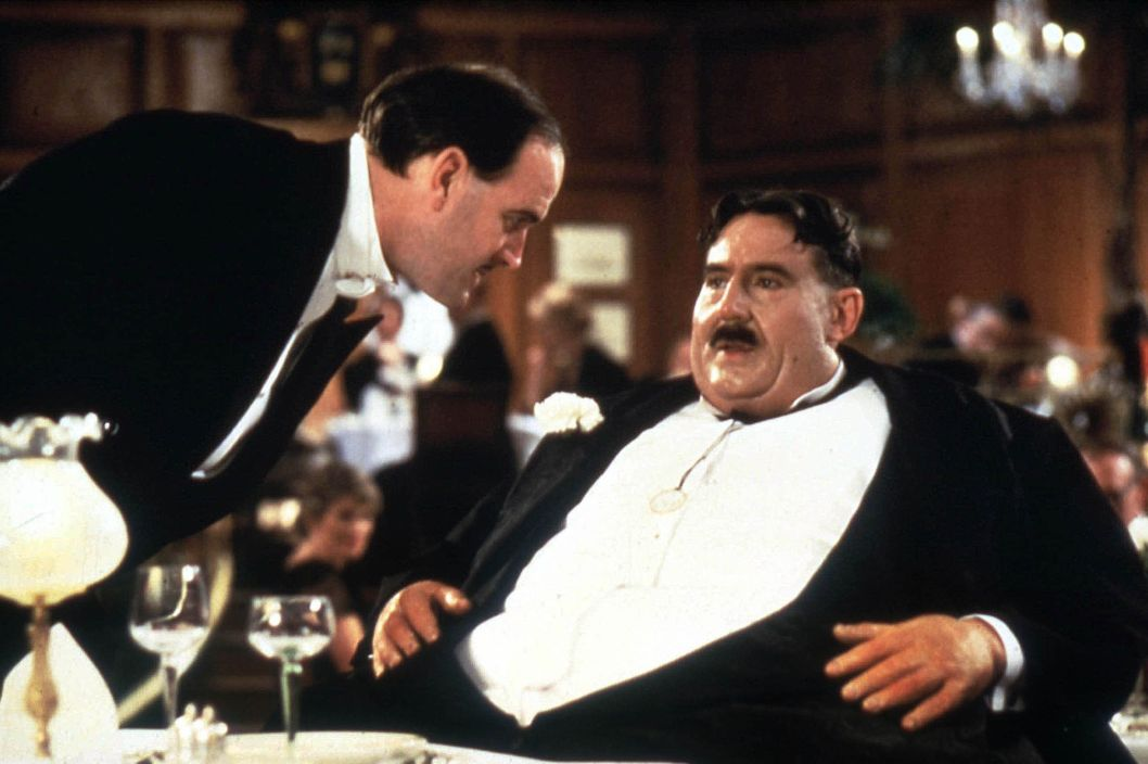 MONTY PYTHON'S THE MEANING OF LIFE BR1983 JOHN CLEESE AND TERRY JONES AS MR CREOSOTE Date 1983.
