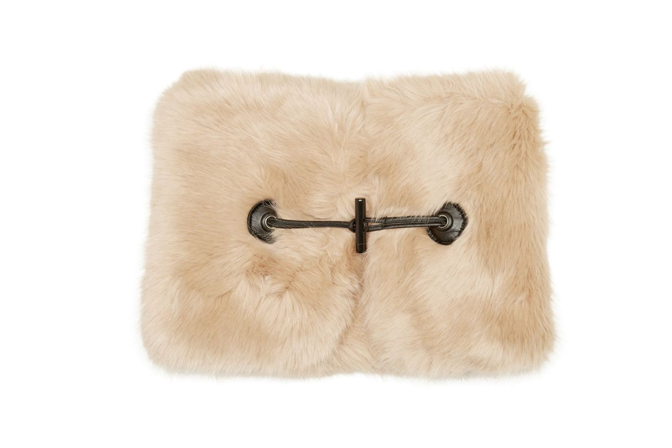Carven Beige Faux-Fur Collar