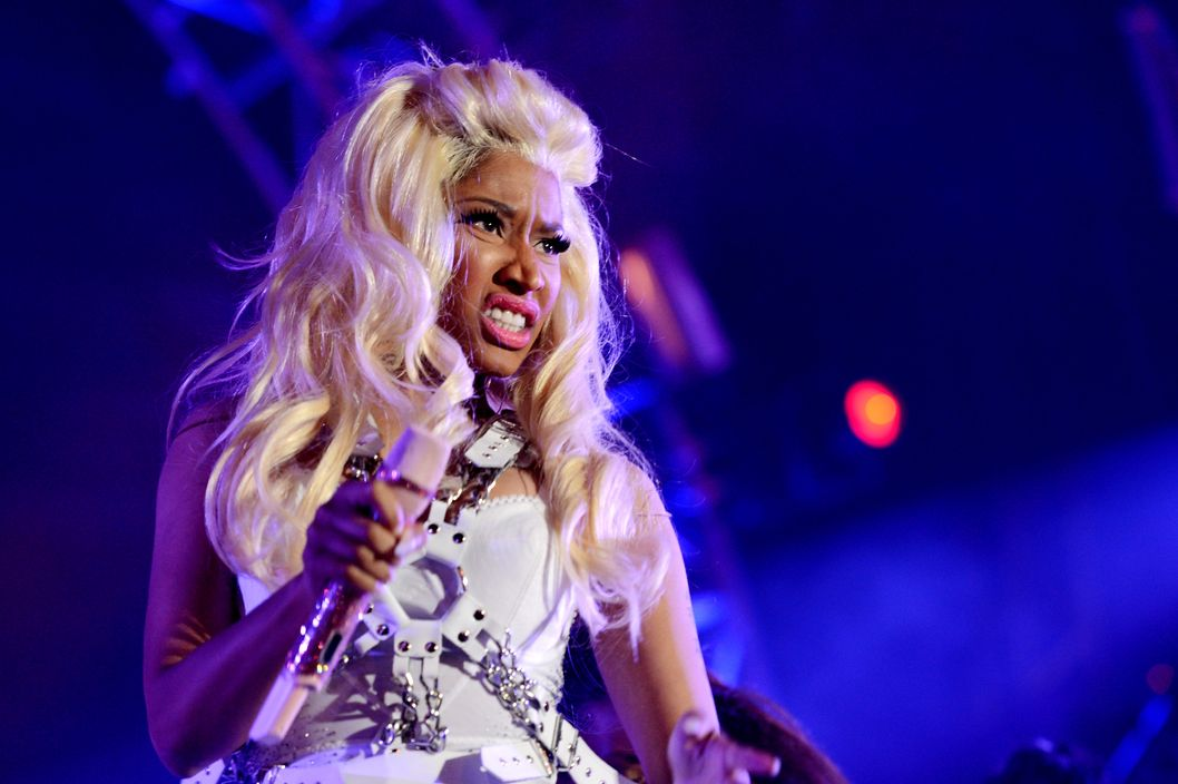 CARSON, CA - MAY 12:  Singer Nicki Minaj performs at 102.7 KIIS FM's Wango Tango at The Home Depot Center on May 12, 2012 in Carson, California.  (Photo by Kevin Winter/Getty Images)