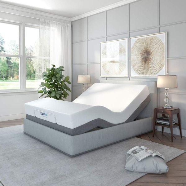 Classic Brands Adjustable Comfort Upholstered Adjustable Bed Base — Ergonomic Queen