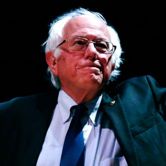 Democratic Presidential Candidate Bernie Sanders speaks during an event 'Where We Go From Here' in New York on June 23 2016.