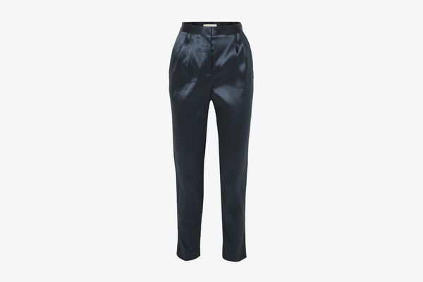 MANSUR GAVRIEL Satin tapered pants