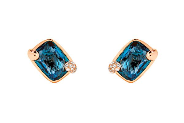 Pomellato Topaz-and-diamond earrings in 18-karat rose gold