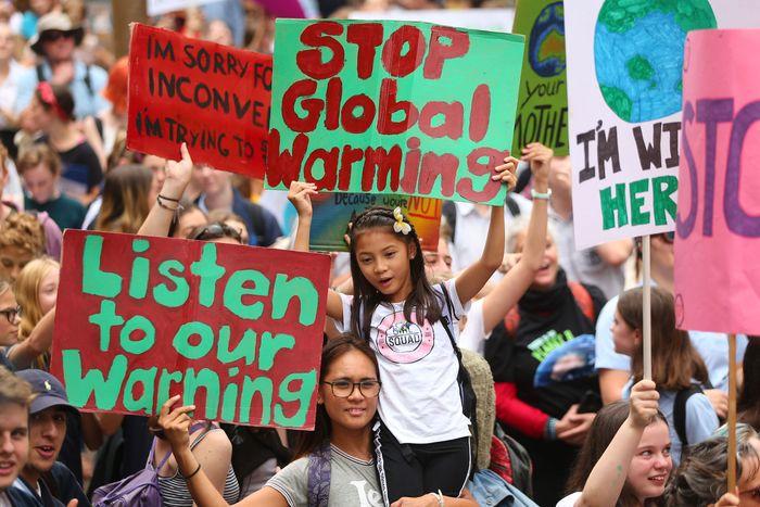 Climate strike in Sydney.