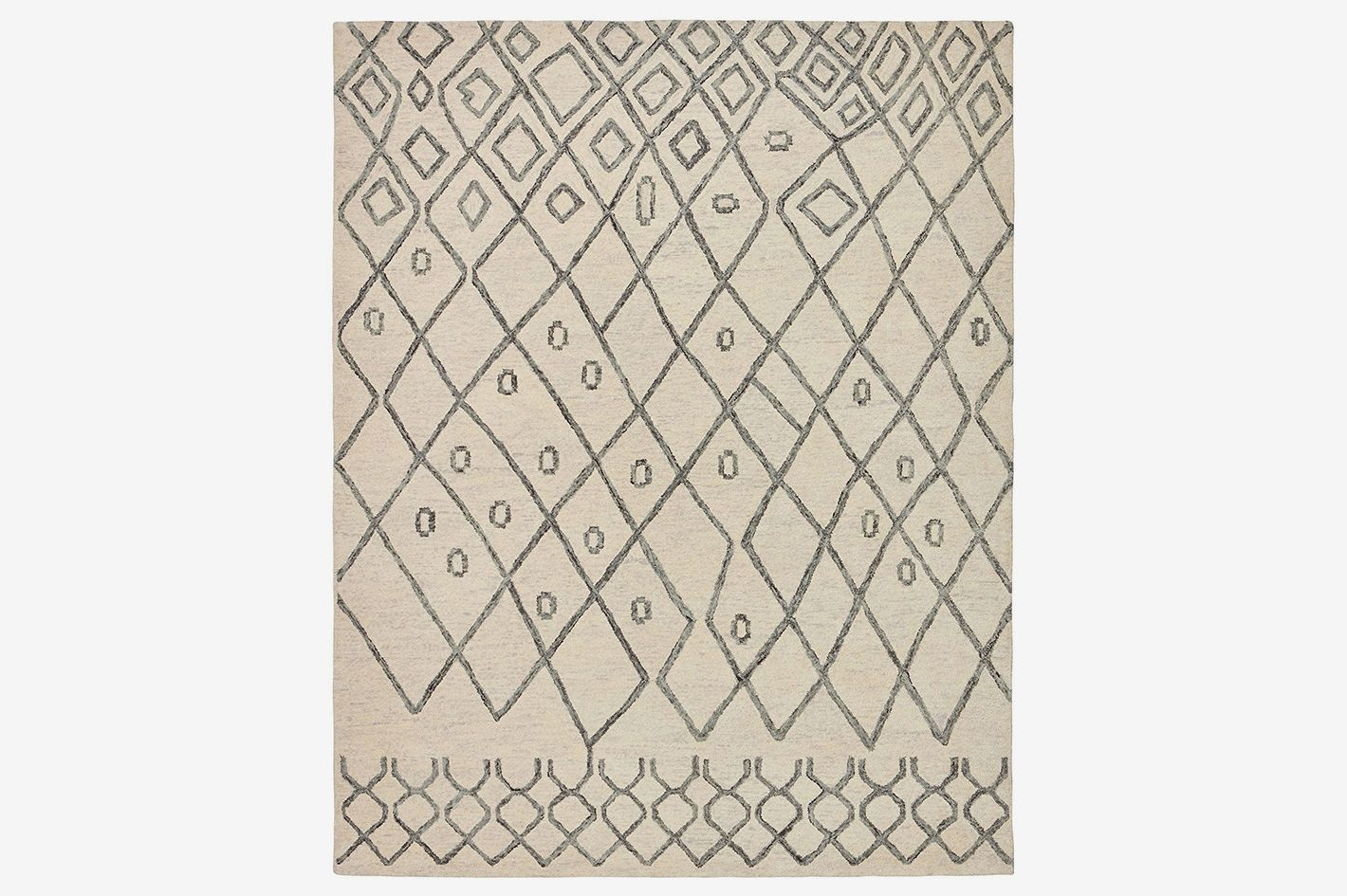 Rivet Geometric Boho Wool Rug