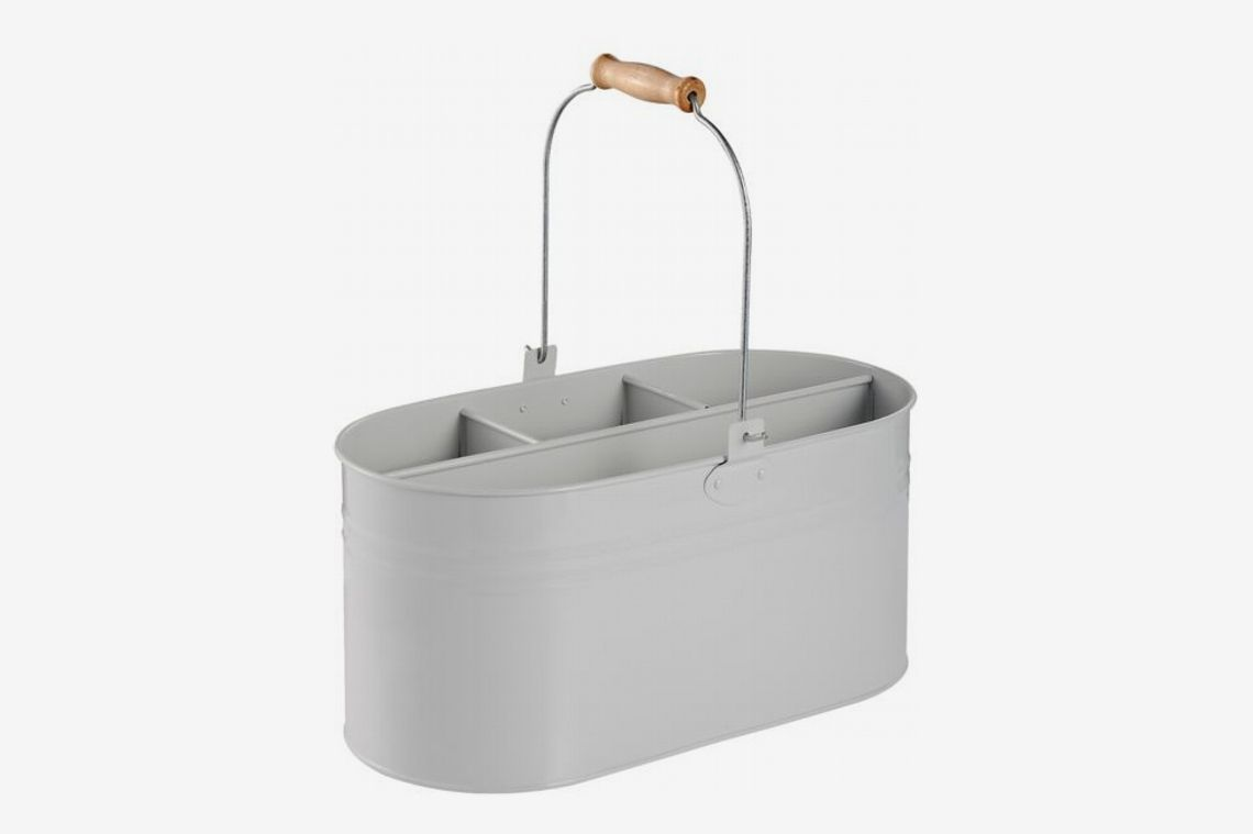 Bee & Willow Home Metal Cleaning Caddy in Black/White