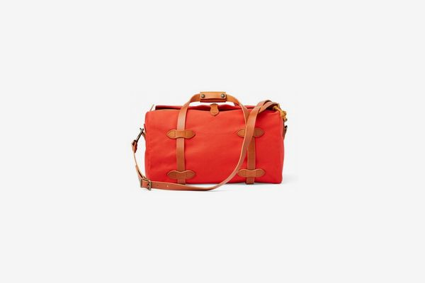 Filson Small Leather-Trimmed Duffel Bag, Mackinaw Red