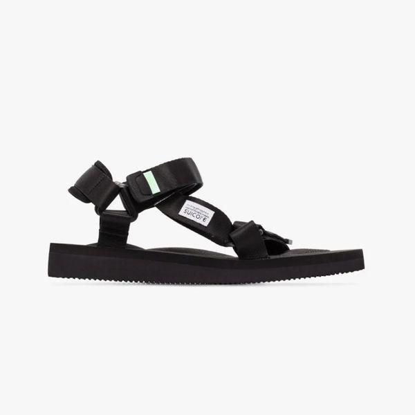Suicoke Black DEPA-Cab Strap Sandals