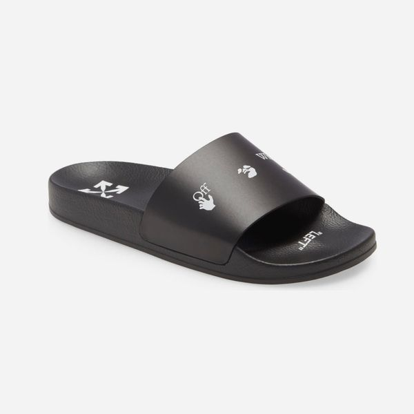 Off-White Black New Logo Pool Slides