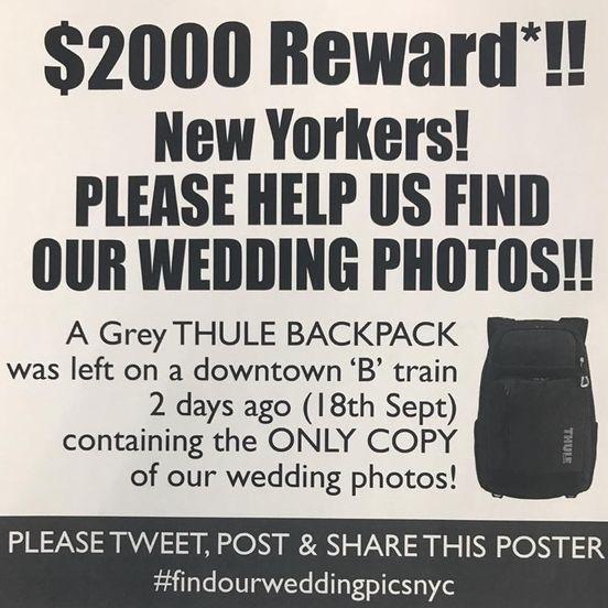 New York City Photographer Lost Friend's Wedding Photos