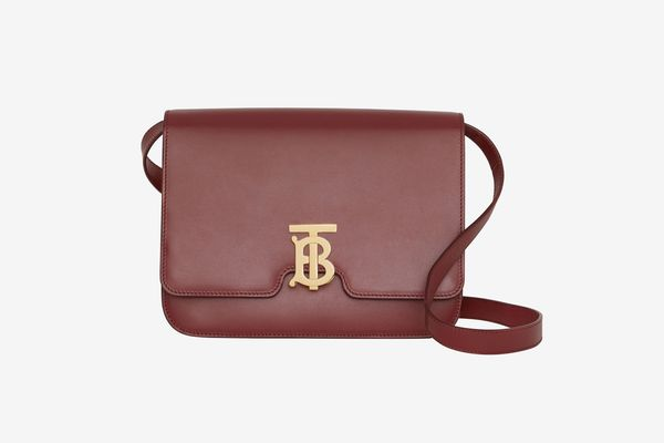 Medium leather TB bag