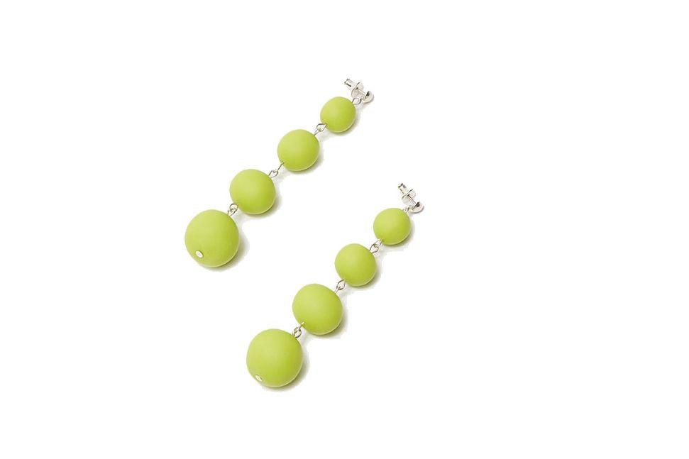 Ball Drop Earrings in Chartreuse