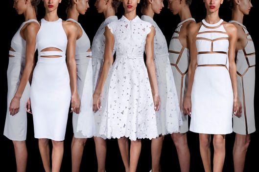 Fashionable White Dresses - Fn Dress