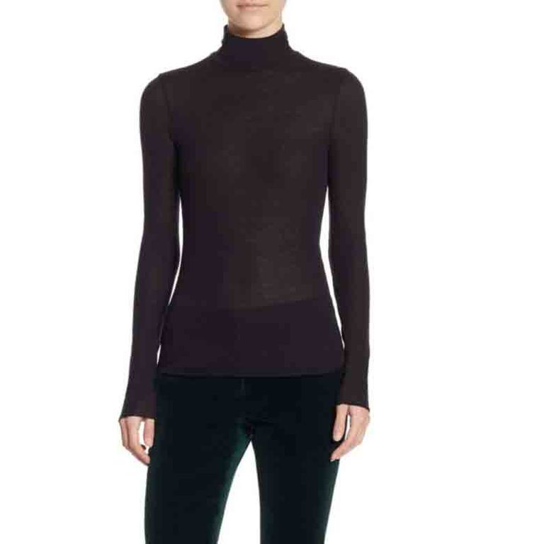 Theory Super Slim Turtleneck Top