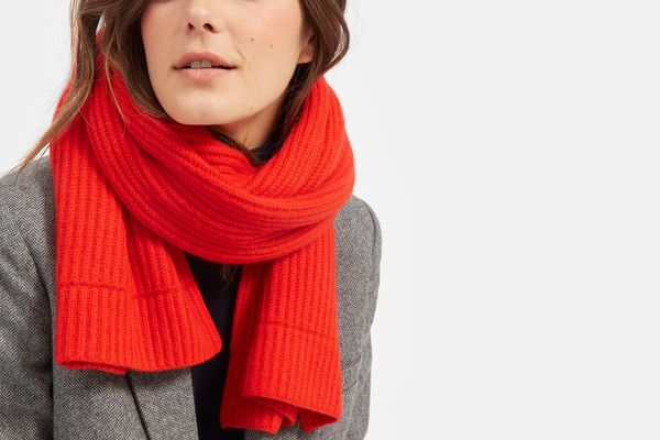 The Cashmere Rib Scarf