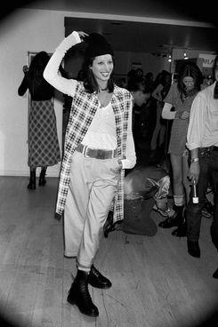 Christy Turlington on the Perry Ellis runway in 1992.