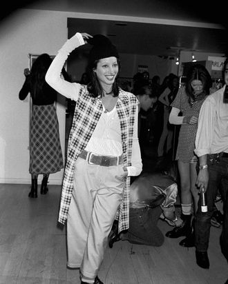 Christy Turlington on the Perry Ellis runway in 1992.