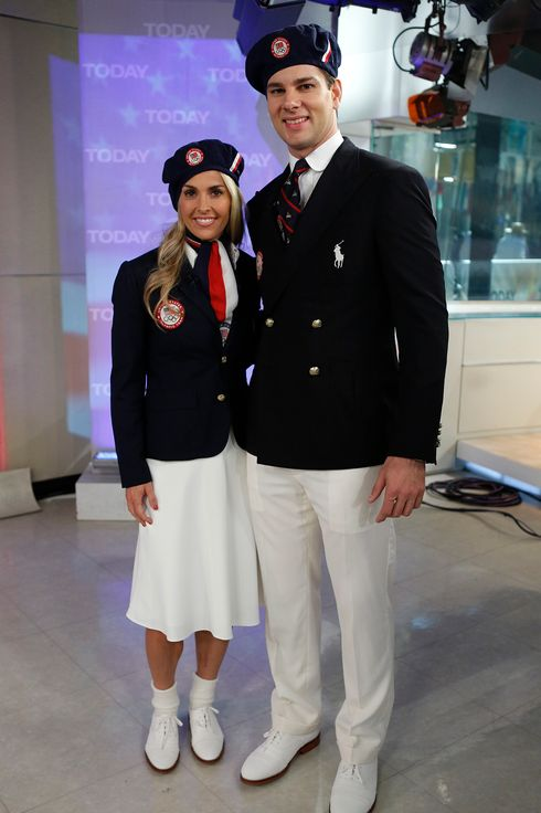 "Heather Mitts and Tim Morehouse appear on NBC News' ""Today"" show."