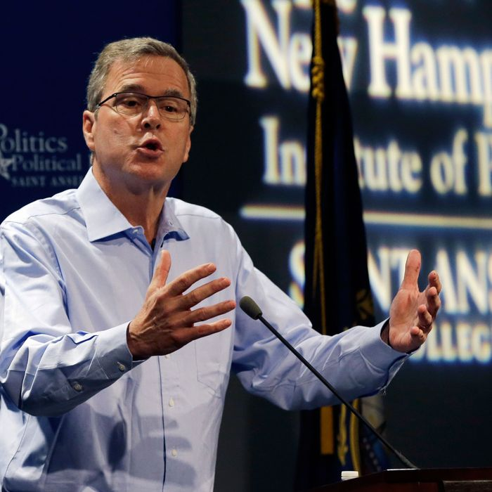 Former Florida Gov. Jeb Bush speaks at a