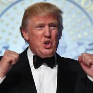President Trump at the Freedom Ball Ball in Washington, D. C.