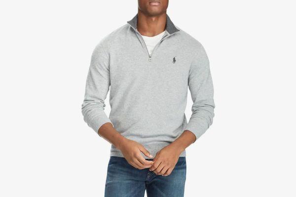 Polo Ralph Lauren Double Knit Jersey Quarter-Zip Sweatshirt