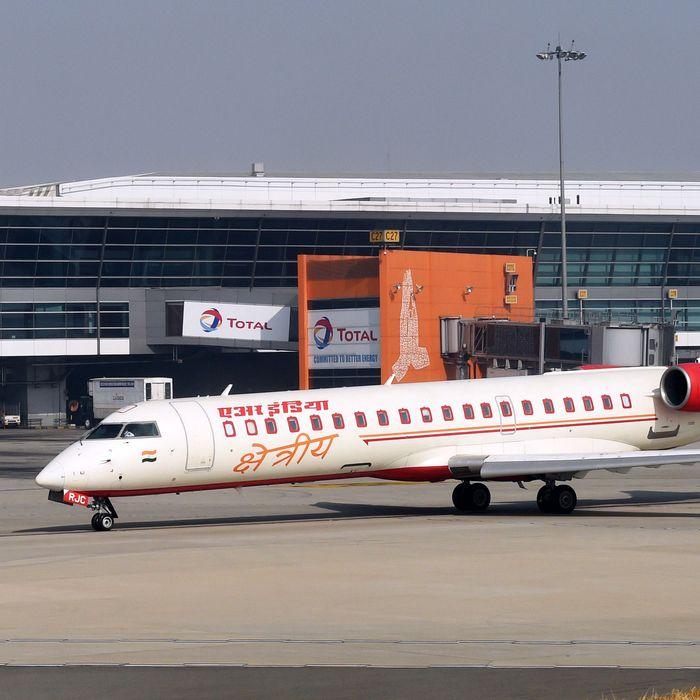 An Air India plane.