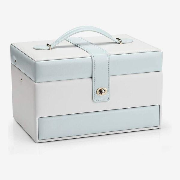 Vlando Jewelry Box Organizer with Small Travel Jewelry Box