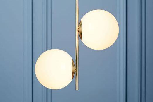 Sphere + Stem Pendant — Brass