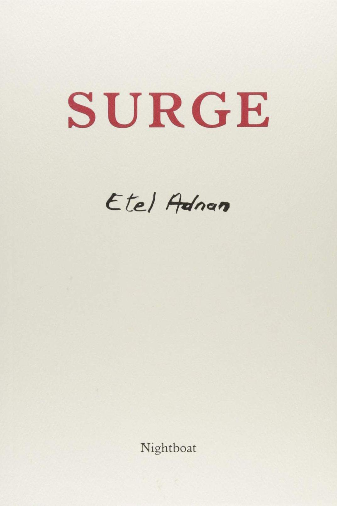 <em>Surge</em> by Etel Adnan