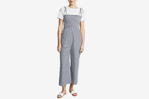 English Factory Sleeveless Smocked Jumpsuit
