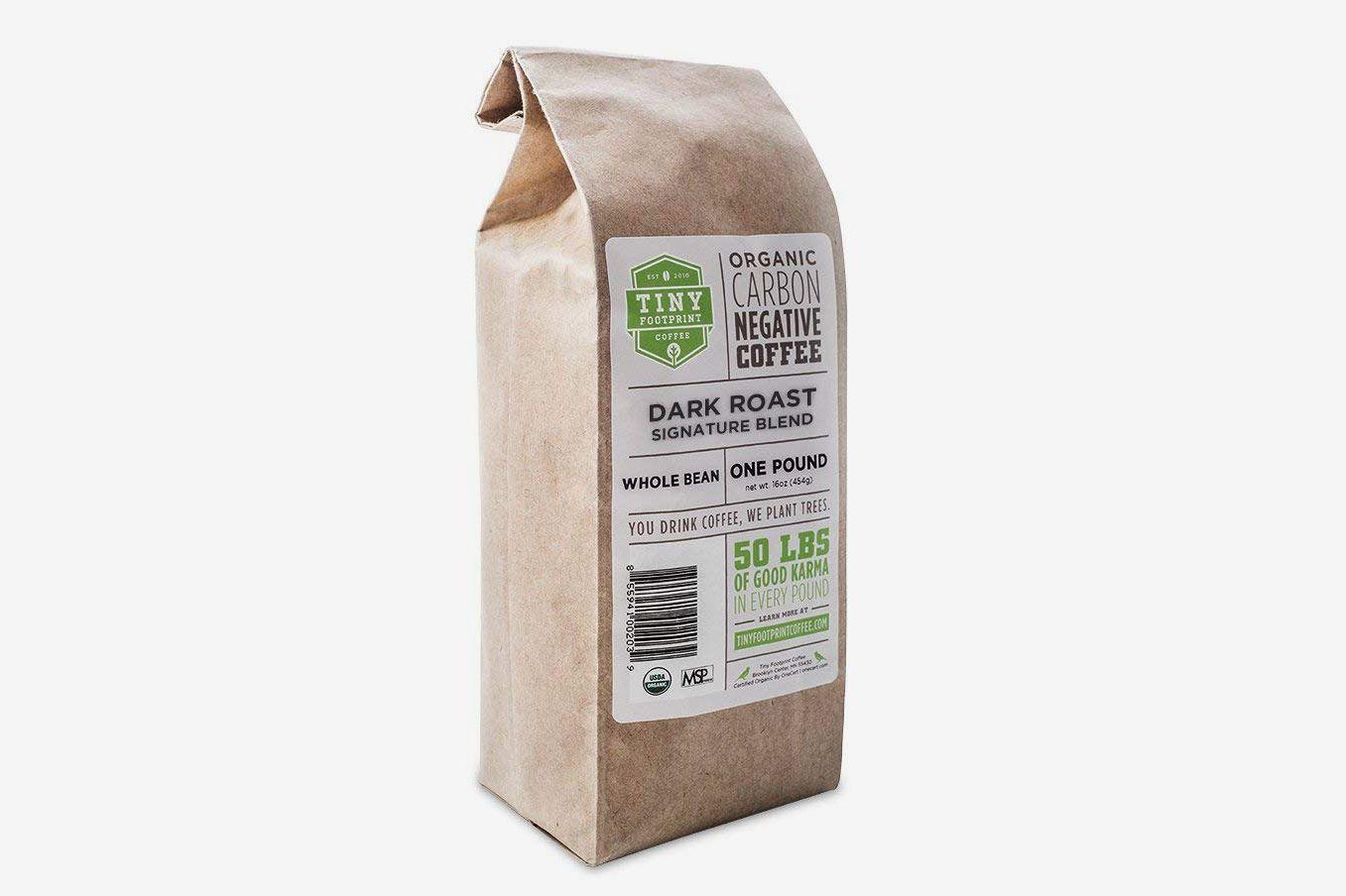 Tiny Footprint Coffee Organic Signature Blend Dark Roast, Whole Bean Coffee (Pack of 2)