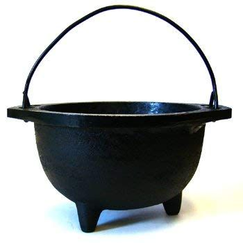 New Age Imports Real Cast Iron Cauldron, 6-Inch Diameter