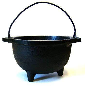 New Age Imports Real Cast Iron Cauldron, 6-Inch Diameter