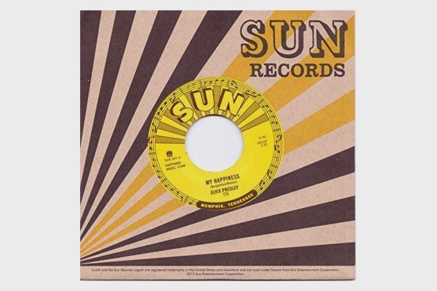 "c807ed808bb87 Elvis Presley ""My Happiness"" 7"" record"