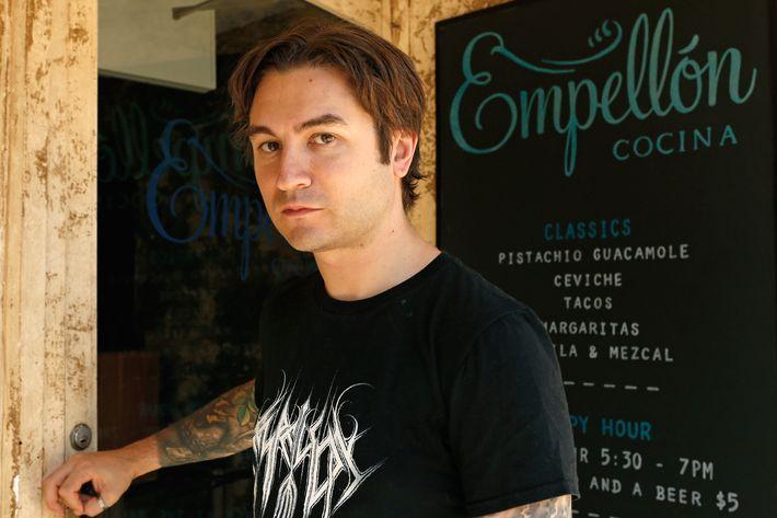 Stupak, at his East Village restaurant.