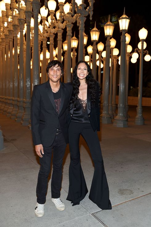 Photographers Vinoodh Matadin (L) and Inez van Lamsweerde attend the LACMA 2013 Art + Film Gala honoring Martin Scorsese and David Hockney presented by Gucci at LACMA on November 2, 2013 in Los Angeles, California.