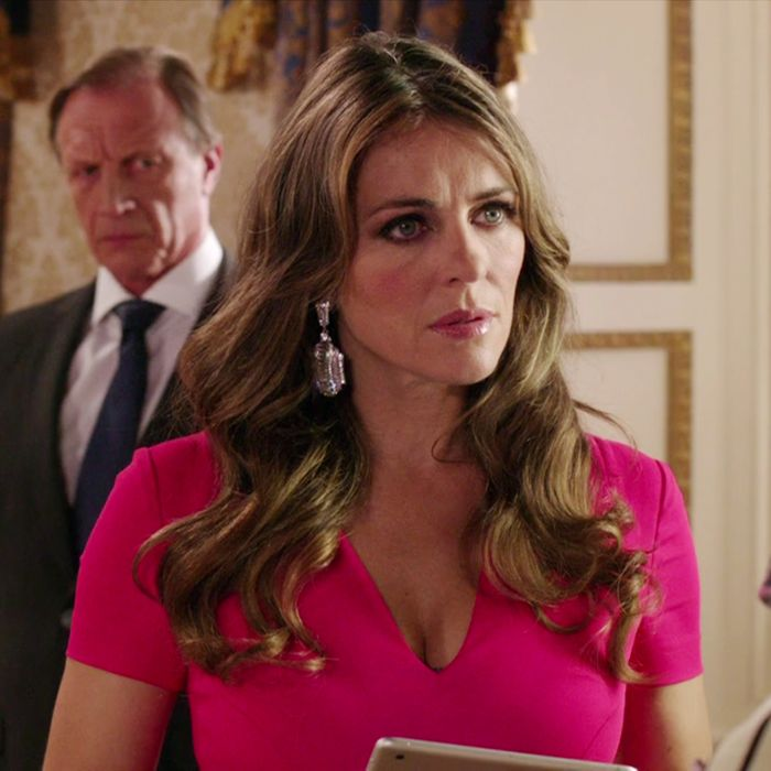 This is a still from a television show called <em>The Royals</em>. You know this is a royal person because of her earrings.