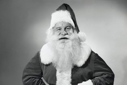 Portrait of Santa Claus smiling