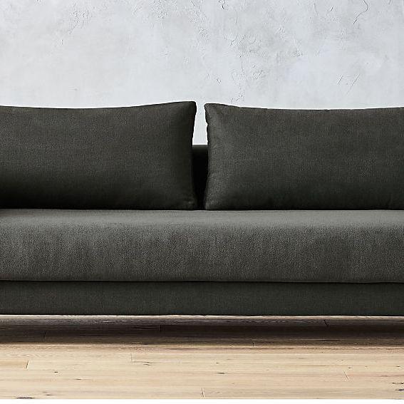 CB2 Tandom Dark Grey Sleeper Sofa