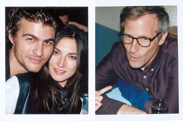 Brett Robinson (left), interior designer; Jacquelyn Jablonski (center), model; Spike Jonze (right), filmmaker.