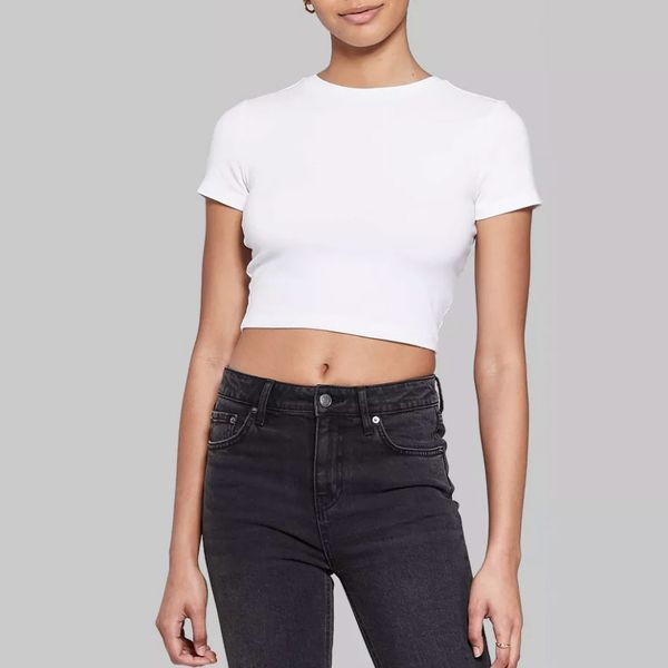 Wild Fable Short Sleeve Cropped T-Shirt
