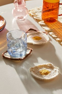 Urban Outfitters Eggs 'N' Toast Crochet Coaster Set