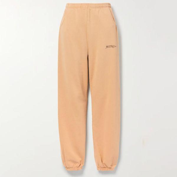 Sporty & Rich Rizzoli Printed Cotton Jersey Track Pants