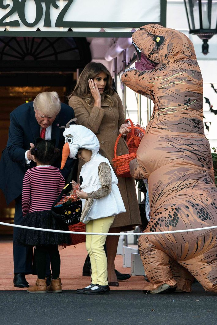 White House Halloween Trick Or Treating Photos