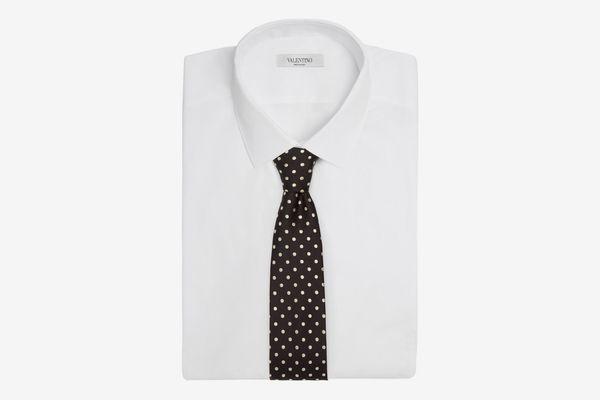 Alexander McQueen Polka-Dot Embroidered Tie