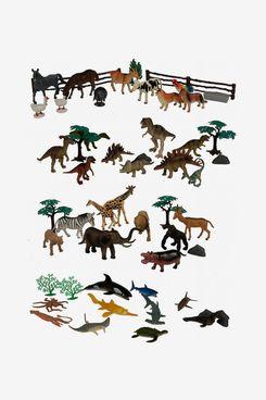 Wenno 60-Piece Animal Figure Set With Accessories