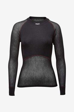 Brynje Women's Merino-Wool Thermo Light Base-Layer Long-Sleeve Shirt