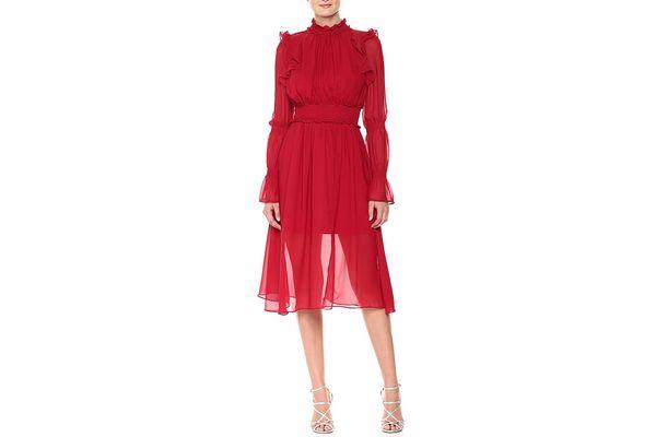 Adelyn Rae Women's Natalia Woven Midi Dress